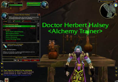 WoW: Профессия Алхимия (Alchemy) 1