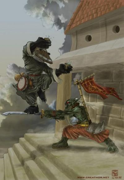 Dota Allstars - Panda vs Juggernaut