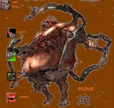 Dota Allstars — Pudge — Butcher - Рисунок