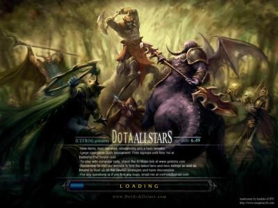 Dota Allstars - Заставка Загрузки Карты