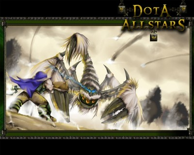 Dota Allstars - Скорпион vs Магичка