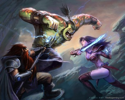 World of Warcraft - Орк, Гном, Эльф