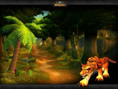 Картинка - Тигр в Лесу - World of Warcraft