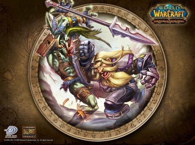 Картинка - Драка Человека и Тролля - World of Warcraft